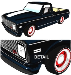 pickup vector image