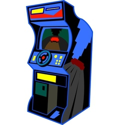 Retro arcade video game vector