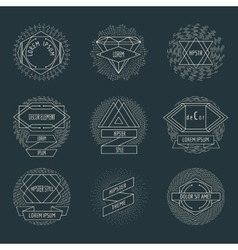 Retro hipster logos and labels with radial vector image vector image