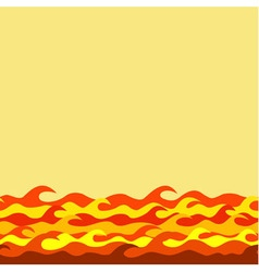 Seamless decorative border from fiery waves vector