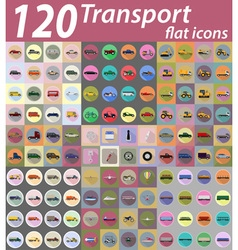 set transport flat icons 03 vector image vector image