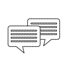 speech bubbles message chat communication talk vector image
