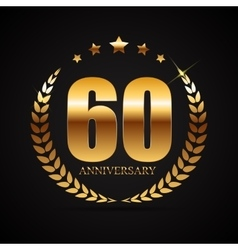 Template Logo 60 Years Anniversary vector image