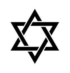 The star of david or the shield of david vector