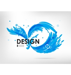 Sign water splash vector image