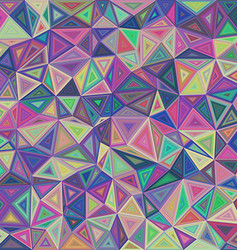 Multicolored triangle mosaic tile background vector