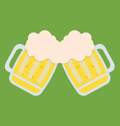 Two beers toasting icon image vector