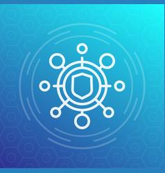 Cyber attack icon pictogram vector