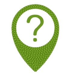 Green clover of question mark in navication icon vector