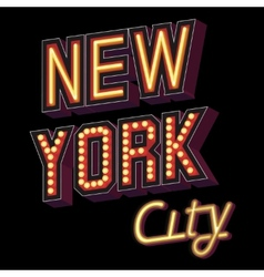New york city lettering vector