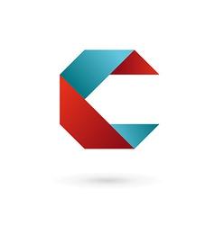 Letter c ribbon logo icon design template elements vector