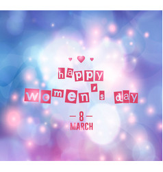 8 march - woman s day vector image vector image