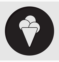 Information icon - ice cream vector