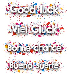 Good luck paper backgrounds vector