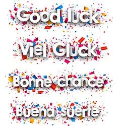 Good luck paper backgrounds vector