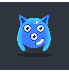 Blue Alien With Pointy Ears vector image
