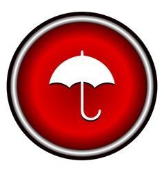 Umbrella red modern web design circle icon vector