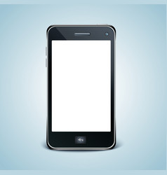 Modern cell phone with white screen vector