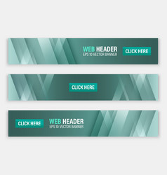 abstract website header horizontal banners vector image vector image