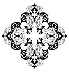 Antique ottoman turkish design two vector