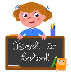 back to school girl vector image vector image