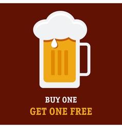 Beer buy one vector