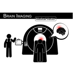 brain imaging vector image vector image