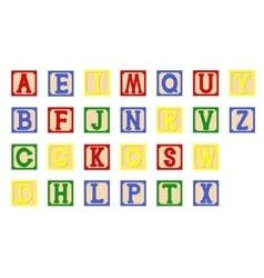 Children cubes alphabet vector image vector image
