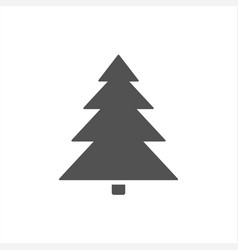 christmas tree icon on a white background vector image vector image
