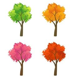 Colorful trees collection vector image