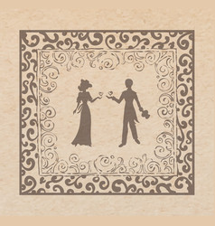 couple in louve vector image vector image