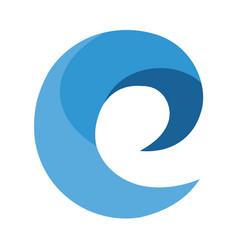 e modern business letter logo design vector image vector image