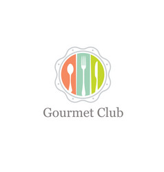 Food gourmet club creative design element vector