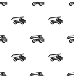 Haul truck icon in black style isolated on white vector