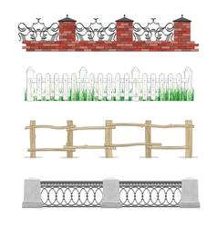 Hedges set vector