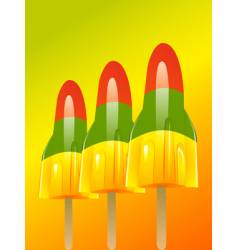ice lolly background vector image