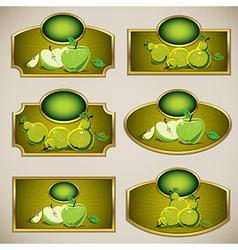 Juice labels vector image vector image