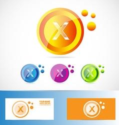 Letter X logo vector image vector image