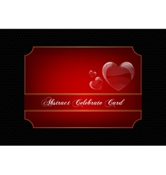 Red decorative celebration card vector image
