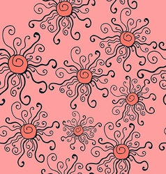 seamless pattern of imaginative suns vector image vector image