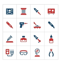 Set color icons of soldering vector image vector image