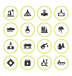 Set round icons of oil industry vector image vector image