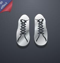shoes icon symbol 3D style Trendy modern design vector image