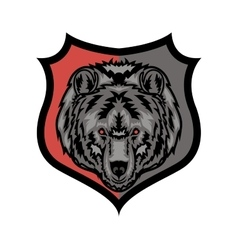 Stylish grizzly bear mascot vector