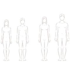 Teenager figure vector image vector image