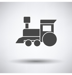 Train toy icon vector