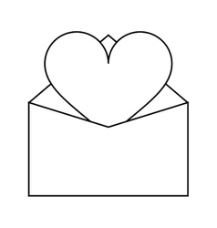 Valentines day romantic mail heart envelope open vector