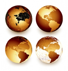 world vector image vector image