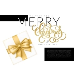 christmas banner with top vector image