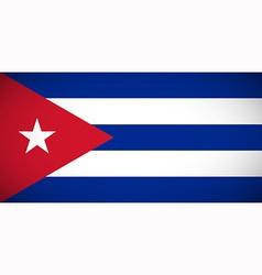 National flag of Cuba vector image